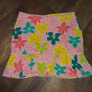 Lilly Pulitzer Parrot terry cotton skirt sz.XS/M